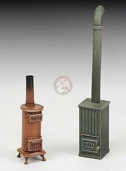 Royal Model 1/35 Cast Iron Coal Stoves WWII with Stovepipe