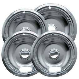 Range Kleen 10124XZ Chrome Style A Drip Pans Sets of 4, 3 6