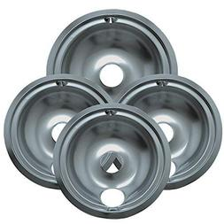 "119204XZ Style B Chrome 4 Pack Drip Bowls 3 Small 6"" and 1"