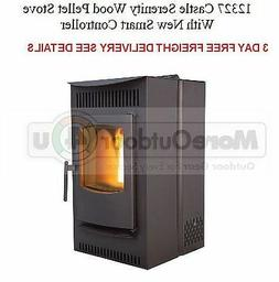 12327 NEW Castle's Serenity Wood Pellet Stove With Smart Con