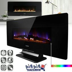 "1400W 42"" Wall Mount/Free Standing Electric Fireplace Heater"