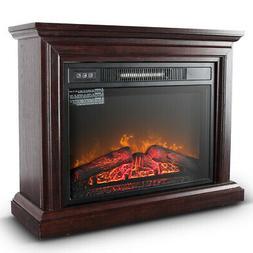 1400W Electric Firebox Fireplace Infrared Quartz Heater Flam