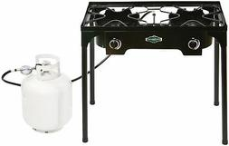 2 Burner Camp Stove with Stand Outdoor Cooking Camping 35000