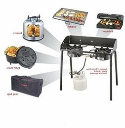 2 Burner Gas Propane Outdoor Camp Chef Camping Modular Cooki