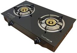 2 Burner Propane Gas Stove - Cooktop Portable Cooker Camp St