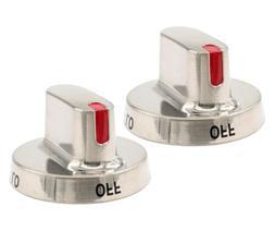2 Pcs DG64-00472A/00347B Dial Knob for Samsung Range Oven,Ga
