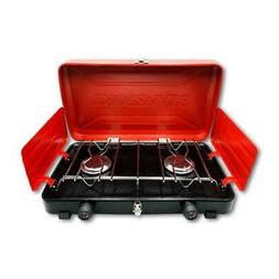 Stansport 20,000 total BTU 2 burner camp stove in RED/BLACK