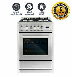 24 IN. 2.73 Cubic Feet, Single Oven Gas Range with 4 Burner
