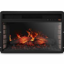 "26"" Flat Ventless Insert Heater Electric Fireplace Adjustabl"