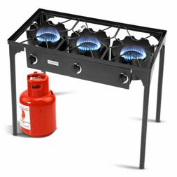 Portable 225,000-BTU 3 Burner Gas Cooker Outdoor Stove High