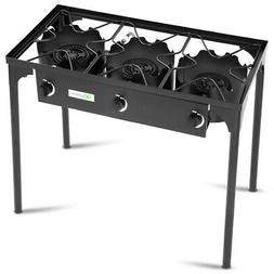 3-Burner Portable Propane Gas Cooker Outdoor Camp BBQ Stove