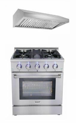 """30'' Gas Range with 4 Burners Professional gas Oven with 30"""""""