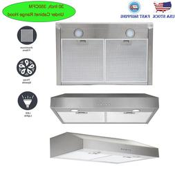 30 inch Under Cabinet Range Hood 350CFM Kitchen Over Stove V