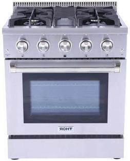 "THOR KITCHEN 30"" Stainless HRG3080U Gas Convection Oven Rang"
