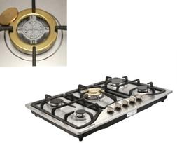 "30"" Stainless Steel Built-in 5 Burner Stoves NG/LPG Gas Cook"