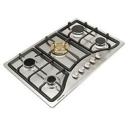 "30"" Stainless Steel Built-in Kitchen 5 Burner Stoves Gas Hob"