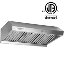 "30"" Stainless Steel Under Cabinet Kitchen Stove Range Hood 8"