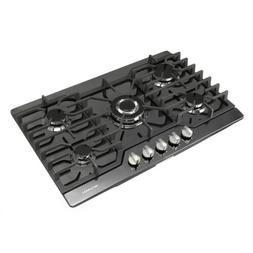 30inch Black Titanium 5 Burner Built-in Stoves LPG/NG Gas Ho