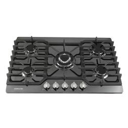 30inch Built-in 5 Burner Stoves LPG/NG Gas Hob Cooking Cookt