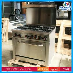 36 6 burner oven range hot plate