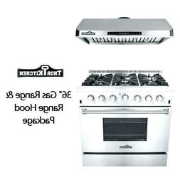 36'' gas stove Stainless Steel 6 burners Kitchen Gas Range C