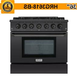 "36"" Thor Kitchen HRG3618U-BS Professional Gas Range Stove Ov"