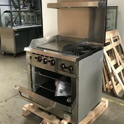 "36"" Oven Ranges 2 Burner 24"" Griddle NSF Commercial Restaura"