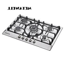 USA ~ 30 inch Stainless Steel 5 Burner Built-In Stoves NG LP