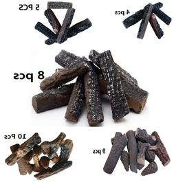 4 5 8 9 10 Pcs Ceramic decorative Log for Gas Fireplace, sto