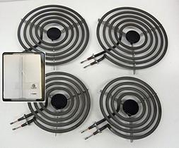 4 Pack - MP22YA Electric Range Burner Element Unit Set - 2 x