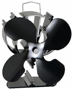 4-Blade Heat Powered Stove Fan for Wood / Log Burner/Firepla