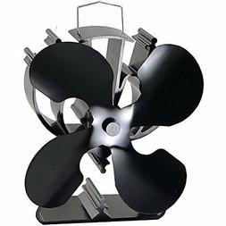 VODA 4-Blade Heat Powered Stove Fan for Wood/Log Burner/Fire