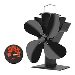 Sumapner 4 Blade Stove Fan – Quiet, Heat Powered Wood/Log