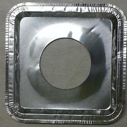 40 Aluminum Foil Square Gas Burner Disposable Bib Liners Sto