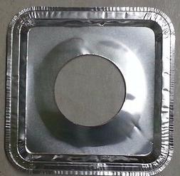 40 pcs Aluminum Foil Square Gas Burner Disposable  Bib Liner