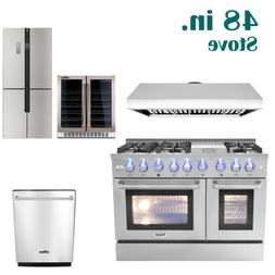 48 cooking gas range stoves and dishwasher