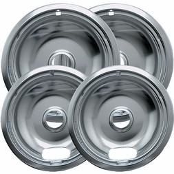 "4pc Drip Pans Bowl Set 6"" & 8"" - Frigidaire Kenmore Whirlpoo"