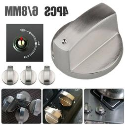 4Pcs  6mm/8mm Zinc Alloy Gas Stove Switch Cooker Control Kno