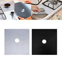 4Pcs Aluminum Reusable Gas Foil Stove Protector Burner Cover