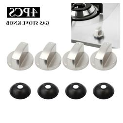 4PCS Stoves Cooker Knobs,Oven Knob 8*8mm Universal Silver Ga