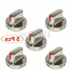 5x DG64-00473A Burner Knob Dial Replacement for Samsung Rang