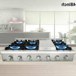 6 burner Range stove 48 Inch Rangetop Stainless Steel Thor K