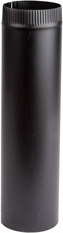 """Imperial 6"""" x 48"""" Single Wall Black Stove Pipe"""