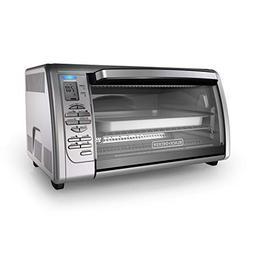 BLACK+DECKER Countertop Convection Toaster Oven, Silver, CTO