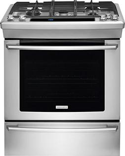 Electrolux - 4.5 Cu. Ft. Self-cleaning Slide-in Gas Convecti