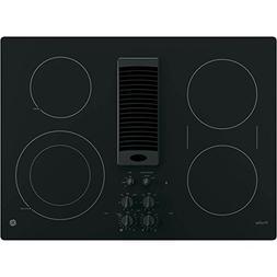 "Ge - Profile Series 30"" Electric Cooktop - Black-on-black"