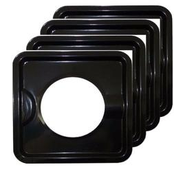"KHY  8"" x 8"" HEAVY DUTY BLACK STEEL SQUARE REUSABLE DRIP PAN"