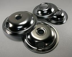 Kenmore Chrome Drip Bowl Set 2- OEM W10278125