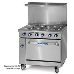 "NEW IMPERIAL RANGE 36"" ELECTRIC RANGE 6 ROUND PLATE ELEMENTS"