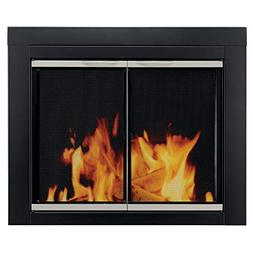 Pleasant Hearth Alsip Cabinet Style Fireplace Screen and Gla